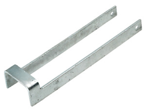 """Gate Throw over Loop Catch 75mm 3"""" Wide Galvanised 350mm 14"""" Long"""