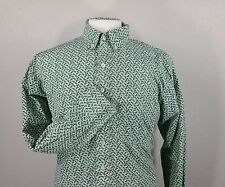 RESISTOL Men's Medium Western Paisley Print Button Down Shirt Long Sleeve M