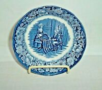 Staffordshire Liberty Blue Fruit Dessert Sauce Bowl Betsy Ross