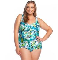 Maxine of Hollywood Women's 238740 Plus Shirred One-Piece Swimsuit Size 20W