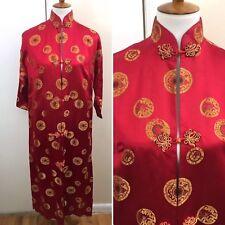 Vintage c. 1920s 1930s Asian Import Silk Robe Kimono Dress Gunn & Latchford