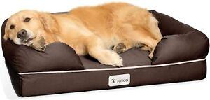 PetFusion Ultimate Memory Foam Dog Lounger Sofa Bed - Non Slip L 91 x 71cm