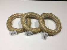 3 X Natural Straw Wreath 30cm - Christmas Decorations - Floristry - Crafts - New
