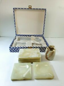 Vintage Onyx of Pakistan Marble Gift Set 1960 | 4 Components | Made in Italy