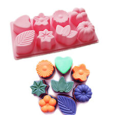 Flower Heart Pumpkin Leaf Soap Bath Bomb Chocolate Mooncake Jello Mold Silicone