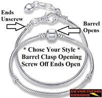 925 Sterling Silver Women's Opulent Snake Chain Bracelet Bangle D403-92