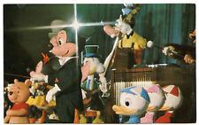 DISNEY WORLD Mickey Mouse Revue POSTCARD 1970s Walt Audio-Animatronics