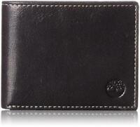 Timberland Men's Commuter Pebbled Leather Bifold Wallet Black