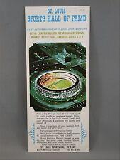 St. Louis Sports Hall Fame Museum Civic Center Busch Memorial Brochure 1967