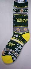 Oregon Ducks Men's Socks Large Size 10 to 13 Holiday Christmas
