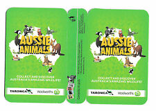 WOOLWORTHS Aussie Animals GREEN Collector Card NEW (Un-opened)  (Sav)