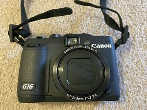 Canon PowerShot G16 12.1 MP CMOS Digital Camera with 5x Optical Zoom with case