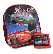 Boys Disney Cars 2 Mcqueen  School Backpack Bag Plus  Free Wallet