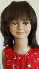 Child mannequin head (to display full body), lifesize,girl smiling face B3+1Wig