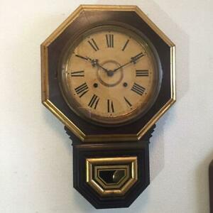 Ingraham 10-inch octagonal wall clock overhauled working product Fedex F/S