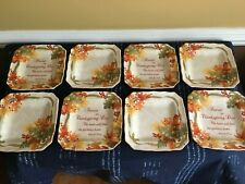 Set of 8 - 222 fifth Autumn Celebration Salad Plates Thanksgiving Fall