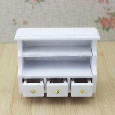 1/12 Dollhouse Miniature Furniture Kitchen Bathroom Cabinet Toilet Cabinet White