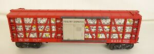 LIONEL POSTWAR #6434 ILLUMINATED POULTRY DISPATCH CAR-VG. ORIGINAL!