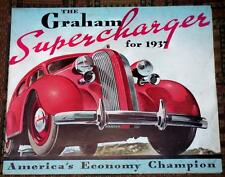 XRARE: The Graham Supercharger for 1937 sales brochure