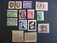 Europe 14 print shift color etc error stamps mint and used mixed condition
