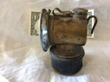 New listing Vintage Brass Miners Carbide Lamp By Justrite Co.-Made In Usa-as found condition