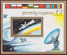 MONGOLIE BLOC N°123A** Bf  Espace Intercosmos TB, 1987 MONGOLIA Space SHEET MNH