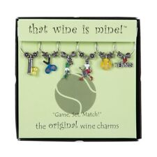 "Wine Glass Charms--Tennis ""Game.Set.Match"" Variety"