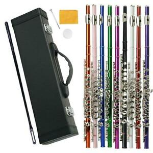 16 Hole C Flute for Student Beginner School Band w/ Case Screwdriver Lubricant