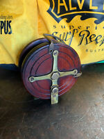 Antique Oak Crucifix Back Trout Fly Fishing Reel 1880's - 1910's