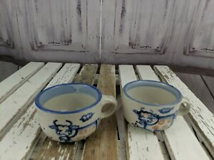 ma hadley mini cup mug handle espresso coffee tea cow country animal set