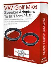 """VW Golf MK6 speaker adapter pods Front Door 17cm 6.5"""" fitting rings adaptors"""