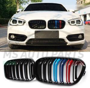 GRIGLIA ANTERIORE BMW SERIE 1 F20 F21 LCI 15/19 CALANDRE NERA LUCIDA STRISCE M
