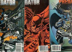 Batman Versus Predator #1 2 3 RUN/SET Regular Format ALL NEWSSTAND Variants F/VF
