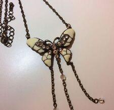 Butterfly Rhinestone Enamel Costume Necklaces & Pendants