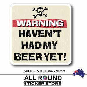WARNING BEER Sticker--Decal,-Car-Sticker,-man-cave-sticker-,-bumper-sticker