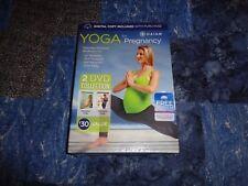 2 DVD Set Prenatal Postnatal Yoga for Pregnancy GAIAM NEW Shiva Rea Exercise