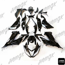 Glossy Black ABS Plastic Fairings Bodywork for 2013-2016 Kawasaki Ninja ZX6R