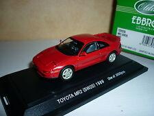 Toyota mr2 sw20 1989 ebbro 1/43 toy mr 2 sw 20 rouge RARE