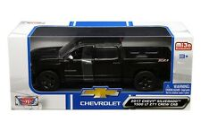 2017 Chevy Silverado 1500 LT Z71 Crew Cab Truck Black 1/24 By Motor Max 79348