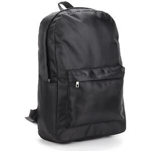 Mens Large Zipped Black Backpack Rucksack Bag for HIKING SCHOOL WORK SPORTS