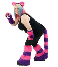 PAWSTAR Cheshire Cat Costume - Furry Ears Tail Paws Leg Pink Purple [CLA]4012