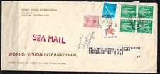 Korea Stamps: 1977 Sea Mail Cover to Amsterdam, NY USA