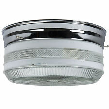 """Sunlite KIT10/CH 10"""" Kitchen Ceiling Fixture Chrome Finish W/ Semi-Frosted Drum"""