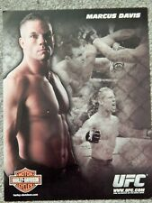 UFC MARCUS DAVIS  DELUXE 8 1/2 X11 OFFICIAL PHOTO COLLECTIBLE