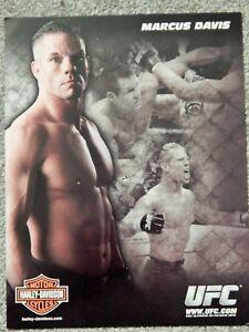 UFC MARCUS DAVIS  DELUXE 8 1/2 X11 OFFICIAL PHOTO COLLECTIBLE