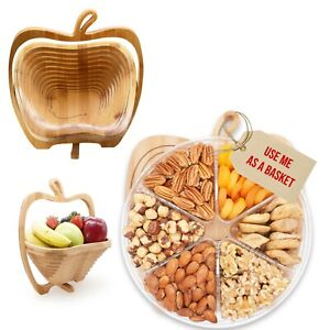 Father`s Day  Fruit &Nuts Gourmet Food Gift Turns into Basket Healthy Fresh Gift