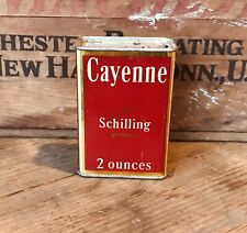 Vintage A Schilling Product Cayenne Spice Tin Ca. 1920's