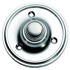 Cromo Satinado Circular Estilo victoriano puerta campana Push/Switch (SCP39)