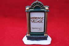 Dept. 56 Heritage Village Sign