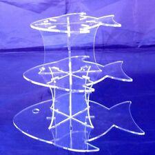 Trois Niveaux Transparent Acrylique Design Poisson de Mariage & anniversaire